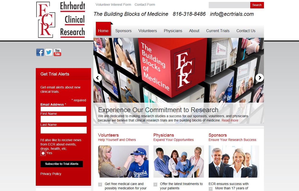 Clincial Research web site design in Wordpress