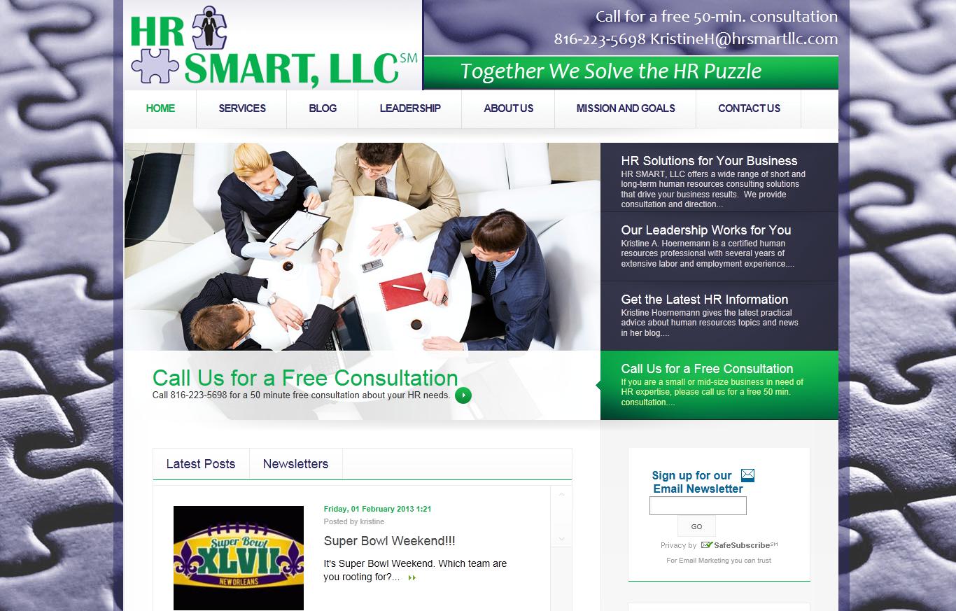 Human resources services website design